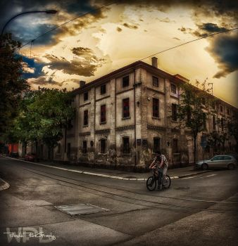 Father used to ride a bike by Piroshki-Photography