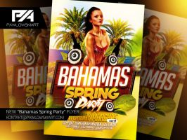 Bahamas Spring Party Flyer Template by pawlowskiart