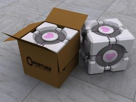 Weighted Companion Cube Pair by viper9x
