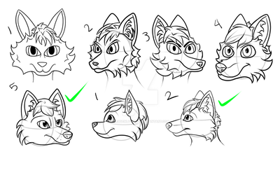 My first digital Anthro heads by heavenly-roads