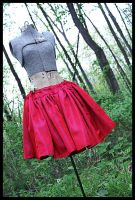 Full Red Skirt by leapyearbaby