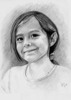 Aria - In Graphite on Board by VRobson-Breault