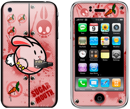 iPhone Skin titled: Sugar Mouth | orginal theme by VirulentMedia