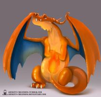 Kanto -  Charizard by ArtKitt-Creations