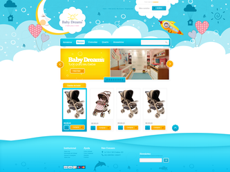 E-Commerce - Baby Dreams by gbwebdesigner