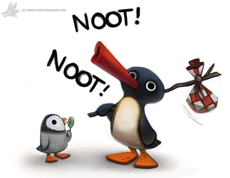Daily Painting #931. Pinguuuu by Cryptid-Creations