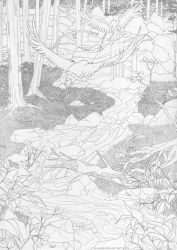 On Our Way Through The Woods - Lineart by Tavaris