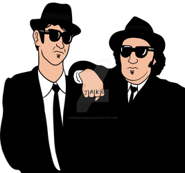 The Blues Brothers by BeeEmDoubleU