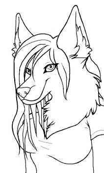 Anthro lineart by DrakonicKnight