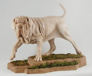 Mastino sculpture by Kesa-Godzen