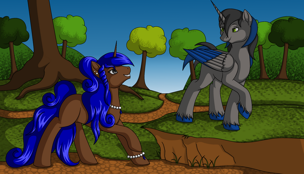 .:Collab:. Sapphire and NoMark by BlueStylz