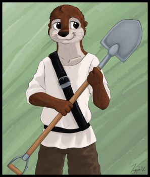 A Boy and His Shovel by sarcasticmarten