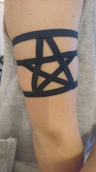 Pentagram bracelet from rubber by Anonymous---Lucifer