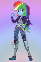 Rainbow Jack (TATTOO Ver.) - MLP:EG / ME Crossover by Trollskog-Studio
