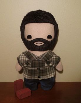 the last of us joel plush, chibi style! by viciouspretty
