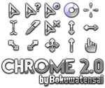 Chrome Cursors 2.0 by bokuwatensai