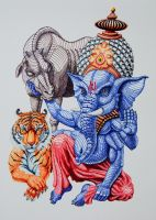 Ganesha - Patron of Arts and Sciences by Lequi