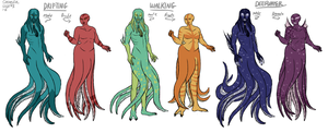 Looming Gaia Bestiary - Cecaelia by The-Greys