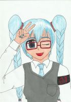 day second- Hatsune in glases by Attarien