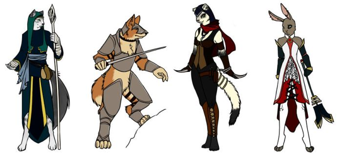 Anthro Lineup by DataBunni