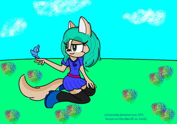 Layla:.Art Trade With VioletRouz134 by IvorySmiles