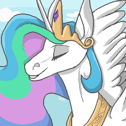 Celestia II (Trying out MS Paint again) by X-marblehornets-x