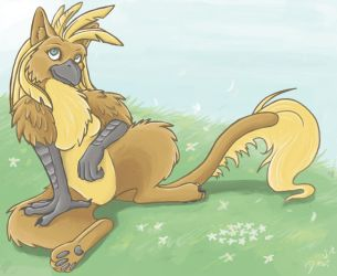 Sniggles Sitting Outside by Eltharion