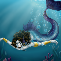 Mermaid Aaron~ by A-Kitty-Lion