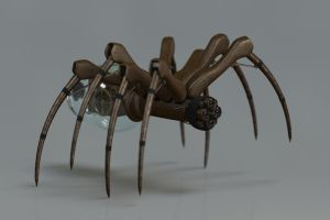 Clockwork Mechanical Spider by brawfx