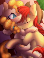 Bright mac and Pear Butter by Scarlet-Spectrum