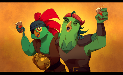 Pirate Bird Bros by GamblingFoxinaHat