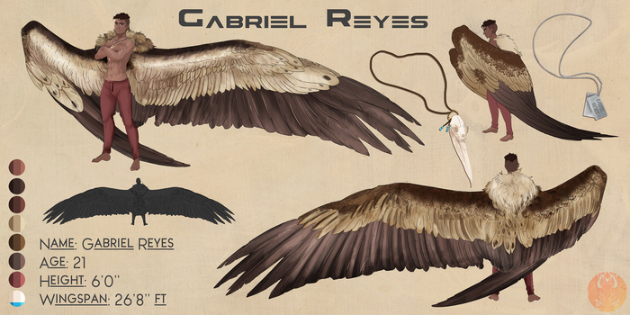 Comish: Gabriel Reyes Wing!AU [Jekyde412] by Blue-Hearts