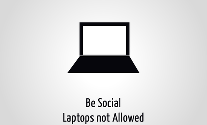 Be Social Laptops not allowed by aplus89