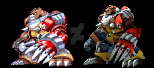 Cresent Grizzly Sprites comparison by xmaverickhunter