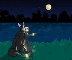 Mightyena and Umbreon