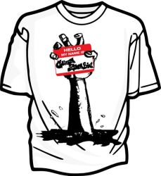 Hello Zombie Hand Tee by Guam-Zombie