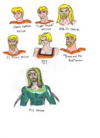 Different Styles of Aquaman by KessieLou