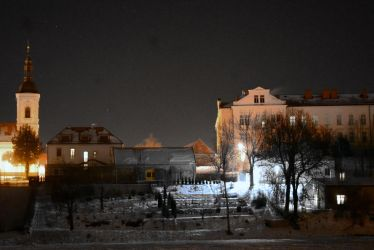 Town Ricany in the night by CaenRagestorm