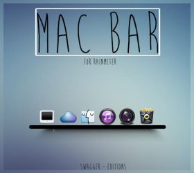 Mac Bar - For Rainmeter by swaggereditons
