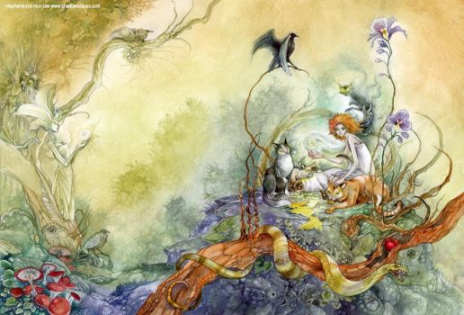 Queen of the Cats by puimun