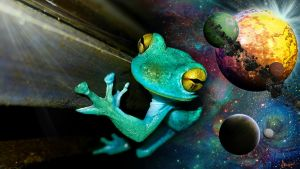 Space Frog by heatherfish24