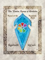 Middle-earth heraldry: Egalmoth (Heavenly Arch) by Aglargon