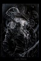 Lady Maria - BLoodborne the old hunters finished by Hollow-Moon-Art