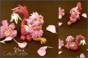Trinni the flower griffiness - polymer clay by CalicoGriffin