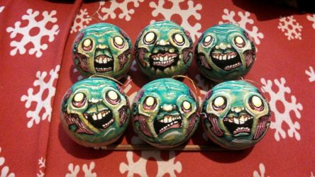 Zombie creeps ornaments! by asconch