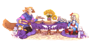 Gift: Tea Party by N6ndGryph