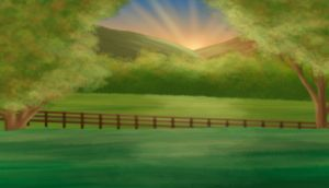 Sundown Meadow -free background- by saphiraly