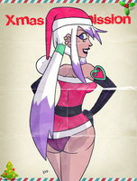 XmasCommission  for grimphantom2 - Charmcaster by theEyZmaster