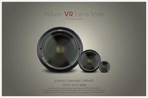 Nikon VR Lens Icon v1 by SoundForge