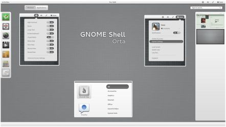 GNOME Shell - Orta by half-left